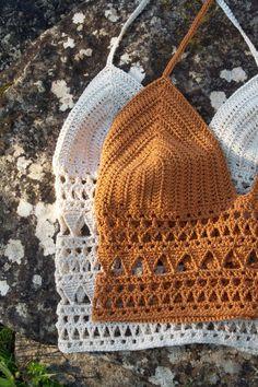 Crochet Bra, Crochet Crafts, Crochet Clothes, Crochet Projects, Crochet Summer Tops, Crochet Crop Top, Crochet Tops, Motif Bikini, Crochet Top Outfit