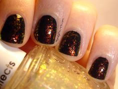 Essie Shine of the Times over black.