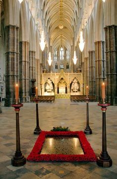 At the west end of the Nave is the grave of the Unknown Warrior, whose body was brought from France to be buried in Unknown Soldier, Lest We Forget, Westminster Abbey, Architecture Old, West End, Bury, London England, Places Ive Been, Building