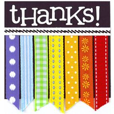 "Create a Tiny Thank-You from Ribbon Scraps  Design by Amy Licht  Amy made this 3""-square thank-you card from her stash of ribbon scraps. The mini card works great clipped to a gift bag, tucked into a bunch of flowers, or left as an unexpected treat on a coworker's desk."