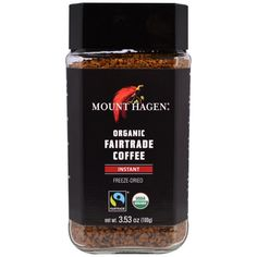 Mount Hagen, Organic Fairtrade Coffee, Instant, Freeze Dried, 3.53 oz (100 g)  #coffee #iherb #hotdrinks #drinks #caffeine #energy #shopping #morningdrink  Need a coupon?  http://pusabase.com/blog/best-iherb-coupon/