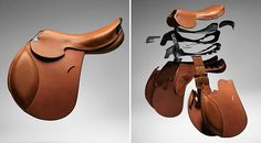 The  Hermès Talaris saddle, The high-tech modular saddle unveiled by Hermès boasts of a tree made of carbon and injected thermoplastic. Designed by master saddler, Laurent Goblet, this saddle is highly structured one that improves on the fit and ride like never before. Furthermore, the use of materials such as carbon instead of metal and wood has made the saddle lightweight, bringing its weight down to just 1.5kgs.
