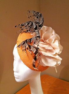 Learn to make your own hats, fascinators and headpieces with a HATalk e-magazine subscription. Fascinators, Headpieces, Make Your Own Hat, Orange Gloves, E Magazine, Hair Ornaments, Headdress, Scarfs, Hats For Women