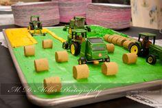 grooms cake featuring John Deere tractors