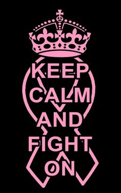 Keep Calm and Fight On Vinyl Decal Featuring the Crown and a Ribbon | LilBitOLove - Housewares on ArtFire