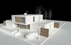 Moderne funkis Villa in Risskov - Crearch_Modelle - Architektur Architecture Design Concept, Maquette Architecture, Architecture Drawing Plan, Architecture Model Making, Architecture Collage, Minimalist Architecture, Architecture Portfolio, Futuristic Architecture, School Architecture