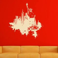 "Style and Apply New York Streetart Wall Decal Size: 31"" H x 32"" W, Color: Silver"