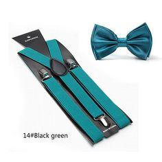 Qujki Rubber Duck Painting Suspenders Bowtie Set-Adjustable Length