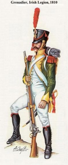 NAP- France: French Grenadier of Napoleon's Irish Legion 1803 - 1815, by A. Croft.