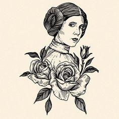 Minha homenagem em forma de ilustração para o Star Wars day desse ano é um tr - Star Wars Canvas - Latest and trending Star Wars Canvas. Star Wars Tattoo, War Tattoo, Star Wars Poster, Poster S, Poster Ideas, Carrie Fisher, Leia Star Wars, Star Wars Princess Leia, Star Wars Quotes