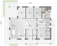 Tilaratkaisuiltaan toimiva koti lapsiperheiden tarpeisiin. House Layouts, Big Houses, Humble Abode, House Plans, Sweet Home, New Homes, Floor Plans, Flooring, How To Plan