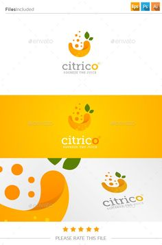 Fresh Juice Logo - Food Logo Templates