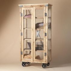 Chicken wire cupboard - I love all things chicken wire!!