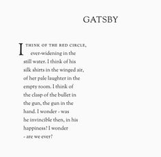 """""""~are we ever?""""  Except from """"The Great Gatsby""""~ F. Scott Fitzgerald"""