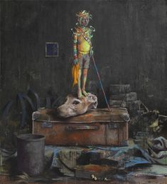 Jonas Burgert works 2009 - Tat markiert, Stueck Hirn, Jeden Kopf treffen, Gift gegen Zeit, Blindstueck, Hirn, Staub und Stop, Trickstueck, Blei nach Glueck