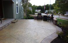 Simple decorative concrete patio  #decorativeconcrete