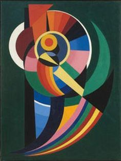 Auguste Herbin (1882 - 1960) | Orphism | Composition  - 1940. French Cubist and later abstract painter whose work forms a bridge between the Cubist movement and post-war geometrical abstract painting.