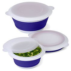 """The large, 5-cup container from Progressive is perfect for transporting pasta salad to the park. All three containers in the set will """"collapse"""" when they're empty so they take up less space. $15, amazon.com"""