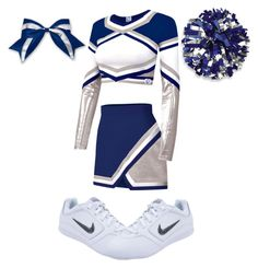 A fashion look from February 2016 featuring sport crop top, panel skirt and rhinestone hair bows. Browse and shop related looks. Clueless Outfits, Cheer Outfits, Cute Swag Outfits, Classy Outfits, Sport Outfits, Cheer Costumes, Duo Costumes, Cute Halloween Costumes, Cheerleading Photos