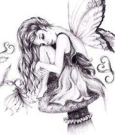 Fairy Drawings In Pencil Beautiful Fairy Drawings In Pencil - Drawing Art Library - Drawing Art Collection Beautiful Pencil Drawings, Pencil Art Drawings, Drawing Sketches, Fairy Tattoo Designs, Tribal Tattoo Designs, Pencil Sketch Images, Fairy Sketch, Enchanted Fairies, Dark Fairies