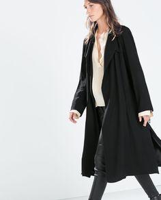 Image 2 of LONG FLOWY COAT from Zara