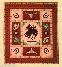 """Image detail for -... ' Applique Quilt Pattern 27""""x29.5"""" or 55""""x60"""" Cowboy Western Rodeo"""