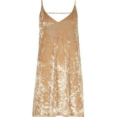 River Island Gold marble velvet mini slip dress ($56) ❤ liked on Polyvore featuring dresses, gold, slip / cami dresses, women, tall dresses, beige cocktail dress, cami dress, gold slip dress and camisole slip