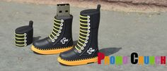 work boot shaped custom molded and custom shaped and designed USB Flash drives and memory sticks are perfect for #marketing #b2b #logo #adspecialty. Call 888-908-1481 or visit www.PromoCrunch.com