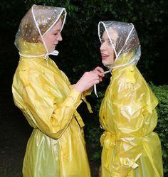 Pvc Raincoat, Plastic Raincoat, Rain Bonnet, Plastic Mac, Rain Wear, Work Wear, Princess Zelda, Macs, Womens Fashion