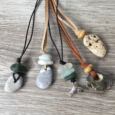 I& just added a selection of sea glass and pebble necklace to my shop, gre. I& just added a selection of sea glass and pebble necklace to my shop, great summer jewellery to wear on the beach Rock Jewelry, Summer Jewelry, Beach Jewelry, Sea Glass Jewelry, Stone Jewelry, Jewelry Shop, Jewelry Art, Jewelry Making, Feet Jewelry