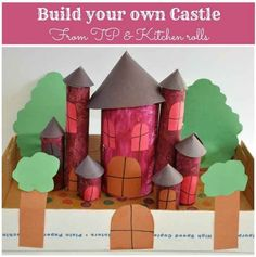 Toilet Paper Roll Castle | 25 Toilet Paper Roll Crafts