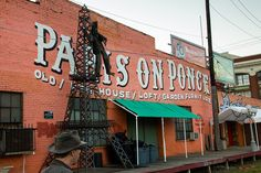Paris on Ponce is a quirky antique shop / warehouse at the corner of Ponce de Leon Ave and Ponce Place.  The Atlanta Beltline Eastside Trail North Section runs behind Paris on Ponce. #Atlanta #GA