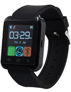 AMPM24 Bluetooth SmartWatch Handy-Uhr Touch Screen für Android OS und IOS smartphone mit schwarz Silikon Armband - http://uhr.haus/ampm24-2/ampm24-bluetooth-smartwatch-handy-uhr-touch-f-r-os
