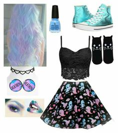 Kawaii Kleidung❤️ Schuhe ❤️Taschen ❤️Schmuck❤️ How To Quickly And Easily Create A Living Room Furnit Cute Emo Outfits, Pastel Goth Outfits, Pastel Goth Fashion, Punk Outfits, Gothic Outfits, Teen Fashion Outfits, Cosplay Outfits, Kawaii Fashion, Lolita Fashion