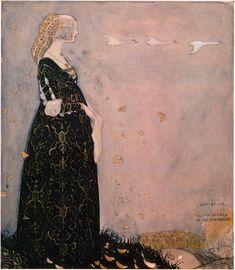"""John Bauer 1908 """"Svanhamnen"""" (Helena Nyblom från """"Bland Tomtar och Troll"""""""
