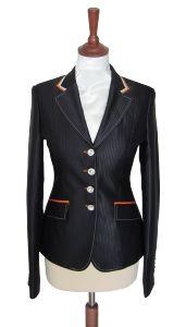 Juuls - shiney navy show jacket with orange details