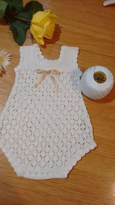 Dinos Bebe White Embroidered Knitted B - maallure Baby Girl Crochet, Crochet Baby Clothes, Crochet For Kids, Knit Crochet, Newborn Crochet Patterns, Crochet Headband Pattern, Baby Patterns, Baby Sweaters, Baby Dress