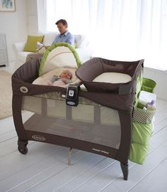 baby pack and play - with bassinet, changing station, and storage. Thinking about getting this instead of crib, bassinet, and changing table. Baby Crib Sheets, Baby Cribs, Baby Bassinet, Bassinet Cover, Baby Needs, Baby Love, Baby Pack And Play, Baby Coming, Everything Baby