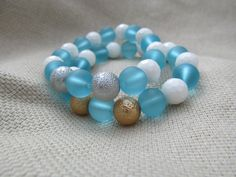 White faceted shell light aqua blue sea glass by littlecrowshop, $17.00