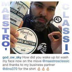 @god_ow_sky Welcome Maestro! Thanks for being undeniably good at spreading the news about Maestro's Classic beard care. Maestro Salute
