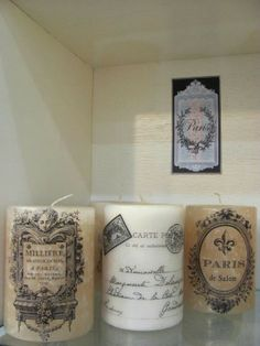 Shabby chic candels