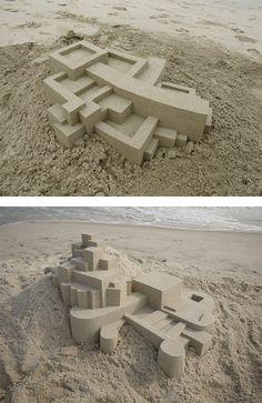 Geometric Sand Castles by Calvin Seibert   Inspiration Grid   Design Inspiration
