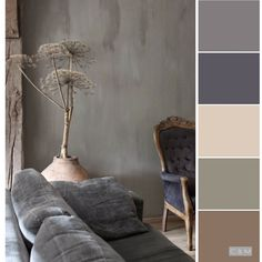 66 trendy home color palette grey Wall Colors, House Colors, Room Color Schemes, Taupe Color Schemes, Colour Pallete, Grey Palette, Color Palettes, Color Balance, Paint Colors For Home