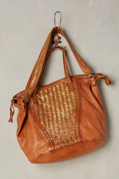 Loretto Metallic Woven Bag