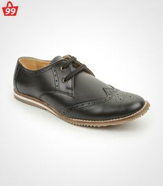 77c3b045906 Step in with ultimate pick of this season when you adorn this pair of Bacca  Bucci Faux Leather Black Formal Shoes
