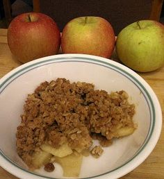 Quick and Easy Apple Crisp-made this and it's so easy and yummy