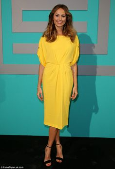 Stacie Keibler looks stunning in yellow