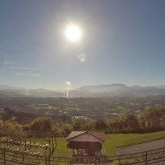 Panoramic views of Oviedo.  #travel #carameltrail #spain #visitspain #christmasinspain #asturias #oviedo #panoramic #views