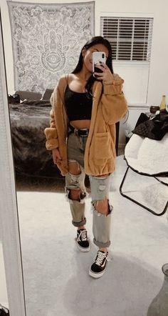 2020 Best Aesthetic Clothes for Ladies Source by outfi. - 2020 Best Aesthetic Clothes for Ladies Source by outfits 2020 Teen Fashion Outfits, Edgy Outfits, Mode Outfits, Retro Outfits, Simple Outfits, Look Fashion, Vintage Outfits, Teen Winter Outfits, Skater Girl Outfits