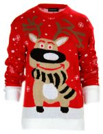 NEW WOMENS LADIES KINTTED PLUS SIZE XMAS NOVELTY RETRO SWEATER JUMPERS 06-32,,